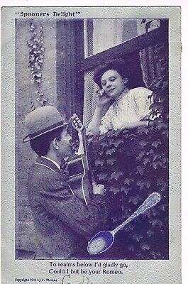 "ANTIQUE ""SPOONER'S DELIGHT"" ROMANCE Postcard         ""...COULD I BE YOUR ROMEO"""