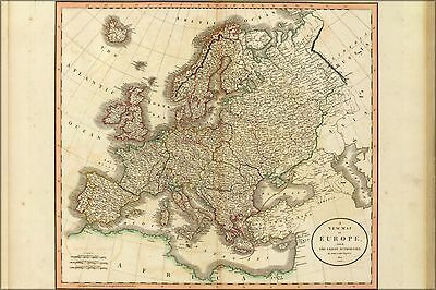 Poster, Many Sizes; Map Of Europe, From The Latest Authorities. By John Cary, En