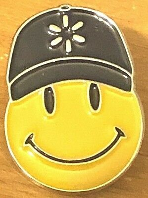 Vintage Wal Mart Smiley Face H For Our Customers Employee Lapel Pin