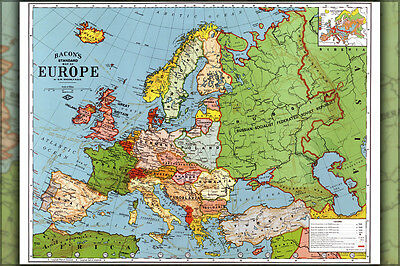 Poster, Many Sizes; Map Of Europe 1923