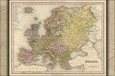 Poster, Many Sizes; Map Of Europe 1844