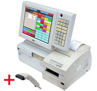 Snikey Cash Register System TFT Touch Display Epson Bonprinter H6000 Scanner