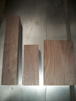 3 Pc Walnut Lumber Wood Air Dried Board Lot 38E Carving Blocks