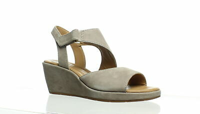 ab82f7c178 CLARKS WOMENS UN Plaza Sling Gray Ankle Strap Heels Size 6 (232347 ...