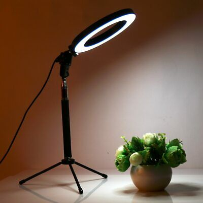 Dimmable LED Studio Camera Ring Light Photo Phone Video Light Lamp With Tripods