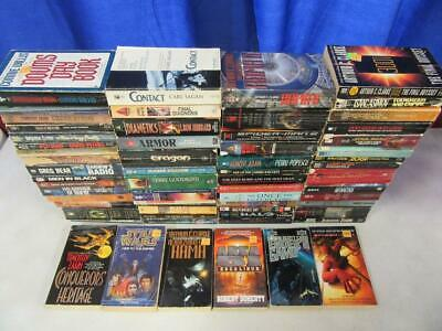 HUGE Lot (64) SCIENCE FICTION SCI FI Books CARL SAGAN LARRY NIVEN ISAAC ASIMOV