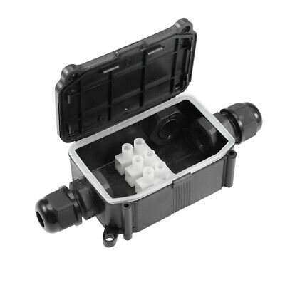 Waterproof IP66 PG9 Cable Gland Junction Box 130x80.5x29.5mm with Terminal Strip