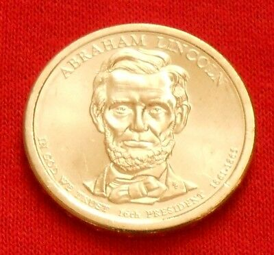 2010 Abraham Lincoln Presidential $1 Coin, D, Denver Mint, Free Shipping