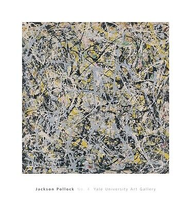 N° 4, 1949 da Jackson Pollock Stampa Abstract Yale Università Galleria 28x26