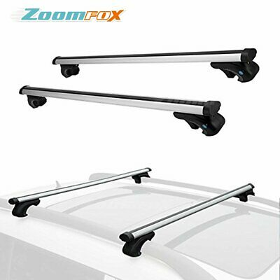 Autozensation 53 Roof Top Rail Rack Cross Bars Luggage Carrier w//Adjustable Clamps