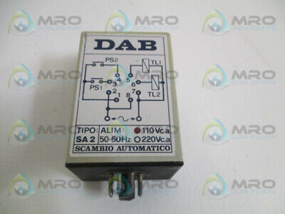 Scambio Automatico Sa2 Automatic Pump Switching Operator Relay 110Vac *Used*