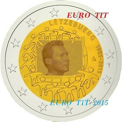 2 €    LUXEMBOURG   COMMEMORATIVE   2015  1   X  PIECE   DRAPEAU      disponible