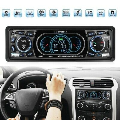 1-Din Car Stereo MP3 Radio Player BT Support USB/FM Receiver Remote Control