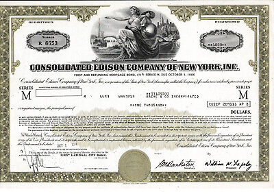 Consolidated Edison Company of New York , Inc. histor. Anleihe 1974 USA