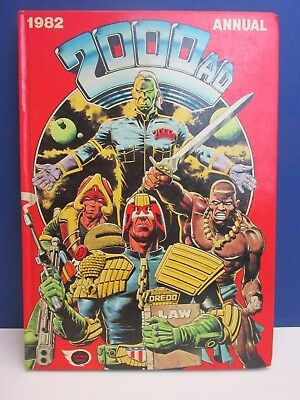 old vintage JUDGE DREDD 2000AD ANNUAL STORY BOOK 1982 HARDBACK fleetway 55z
