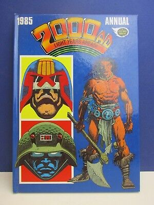 old vintage JUDGE DREDD 2000AD ANNUAL STORY BOOK 1985 HARDBACK fleetway 52z
