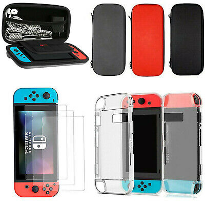 For Nintendo Switch Travel Carrying Case Bag+1X Shell Cover+3X Screen Protectors