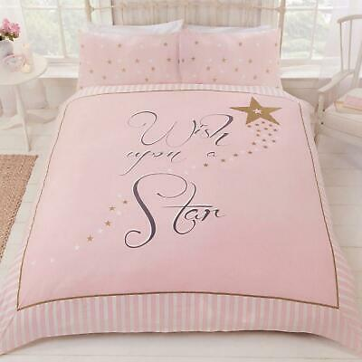 Pink Duvet Covers Wish Upon A Star Gold, Pink And Gold Star Bedding