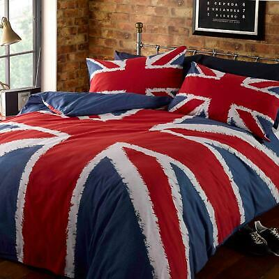 Union Jack Duvet Covers British UK Flag Red White Blue Quilt Cover Bedding Sets