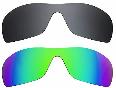 dc1be48782 BATWOLF Replacement Lenses Grey   Green Mirror by SEEK fits OAKLEY  Sunglasses