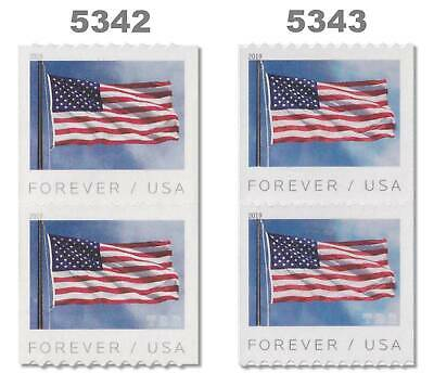 5342 APU and 5343 BCA Flag USA Forever Stamps Set of 2 Pairs 2019 MNH - Buy Now