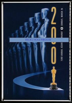 Original 2001 ABC TV 73RD ACADEMY AWARDS Printer's Test Poster OSCAR DESIGN