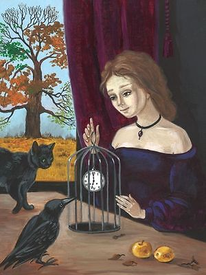 1.5x2 DOLLHOUSE MINIATURE PRINT OF PAINTING RYTA 1:12 SCALE GOTHIC SURREAL ART