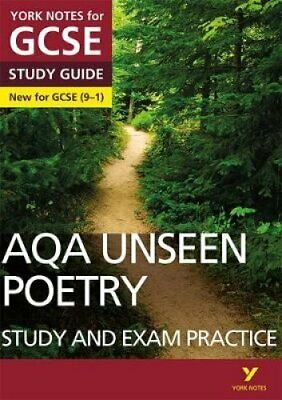 AQA English Literature Unseen Poetry Study and Exam Practice: Y... 9781292186344