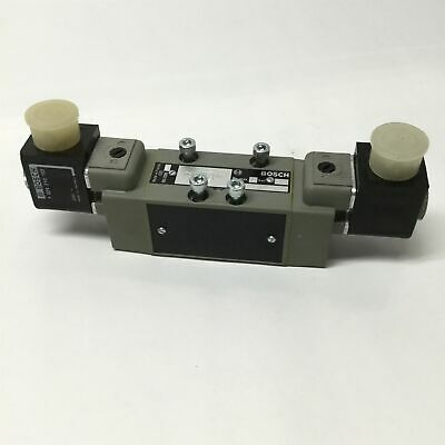 Bosch Rexroth 0820024610 Directional Control Double Solenoid Valve, 24VDC Coils