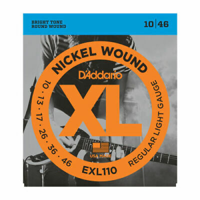 D'addario EXL110 Electric Guitar Strings Gauge 10-46