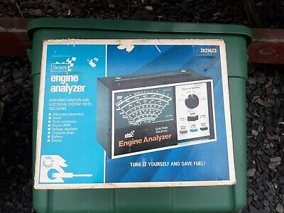 Sears Engine Analyzer 2821423 with Box and Accessories