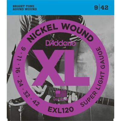D'addario EXL120 Electric Guitar Strings Gauge 9-42