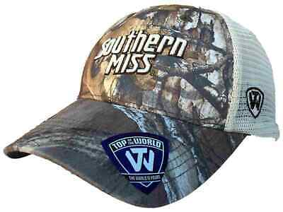 new arrival fa4b5 7d795 Southern Miss Golden Eagles TOW Camo Mesh Prey Adjustable Snapback Hat Cap