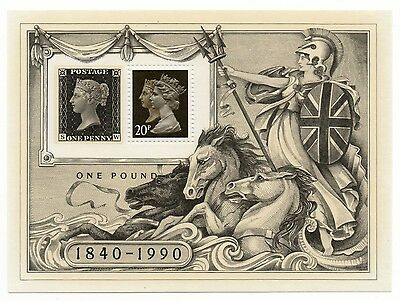 GB 1990 150th Anniversary Penny Black mint mini / miniature sheet MNH stamps