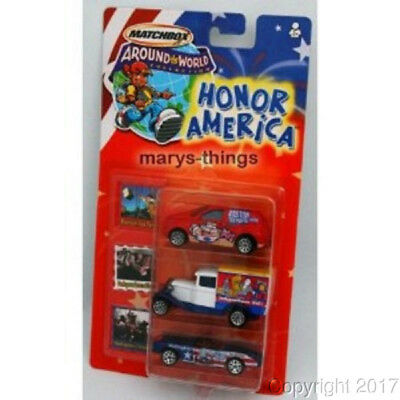 MATCHBOX AROUND THE WORLD HONOR AMERICA 3 CARS New!