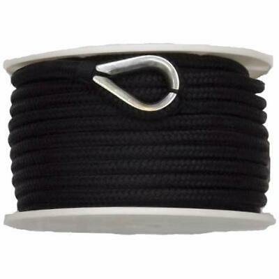 "US Ropes Nylon Double Braided Anchor Line 5/8"" x 200' Black"