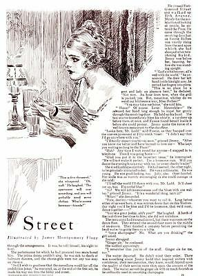 """1919 Illustrated Article James Montgomery Flagg """"Uneasy Stree"""" Arthur Roche"""
