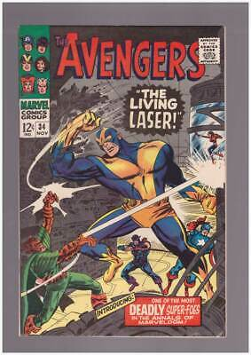 Avengers # 34  The Living Laser !  grade 8.5 scarce book !