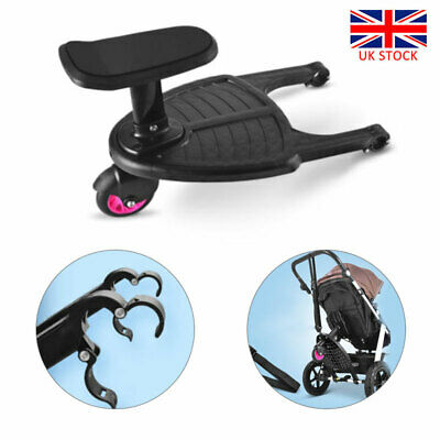 Wheeled Buggy Board with Comfort Seat & Folding Storage Belt for Jogger Bugaboo