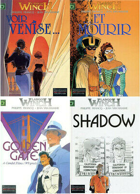 Van Hamme Francq Lot 4 BD Largo Winch 9 10 11 12 en édition originale EO et TBE