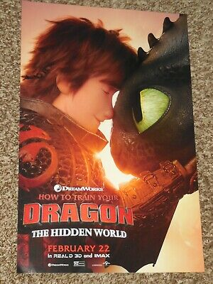 How To Train Your Dragon The Hidden World 11x17 D/S Original Promo Movie Poster