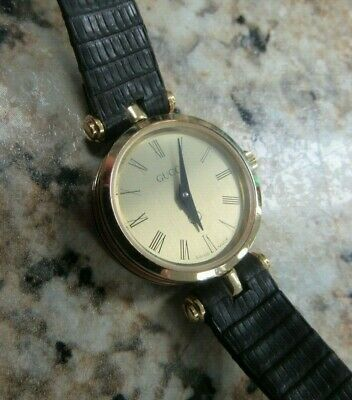14f606710f3 Vintage GUCCI Swiss Made Luxury Women s Watch W  Brown Leather Band - READ