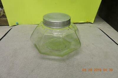 Antique Aridor General Drug Store Display Storage Jar Candy Tobacco Humidor Lid Jars