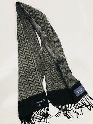 "Croft /& Barrow Scarf Muffler 61-65/"" acrylic $28 NEW  Pick gray plaid navy black"