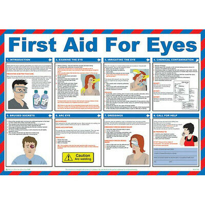 First Aid For Eyes Poster 59cm x 42cm Safety First Aid A602T