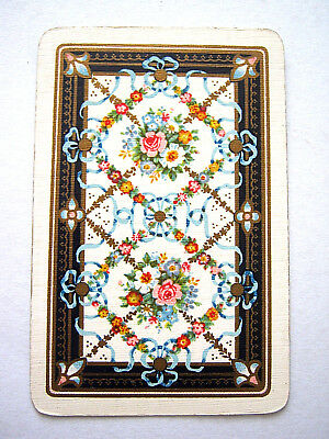 1 Single Swap Antique English Narrow Gilded Roses Framework Playing Card