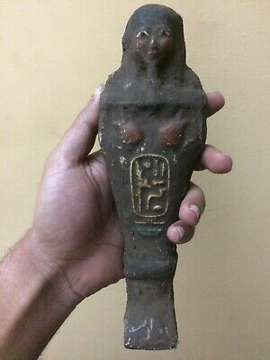 EGYPTIAN ANTIQUES STATUE Osiris Shabti Ushabti Mummy Gods Egypt Carved Stone, BC