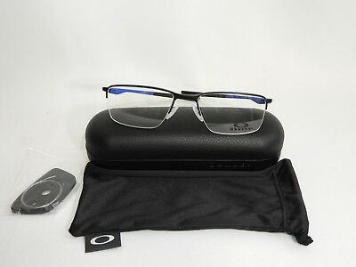 bebefb67461 Authentic Oakley Socket 5.5 OX3218-0452 Satin Black Eyeglasses 52 18 138 NEW
