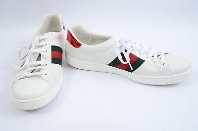 2b75719d069 Gucci Ace white multi 13 bee embroidered stripe logo sneaker UK12 shoe  650