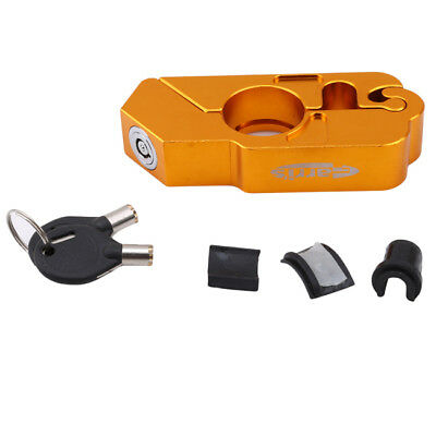 Motorcycle Handlebar Lock Scooter Theft Protect Brake Clutch Security Gold LD